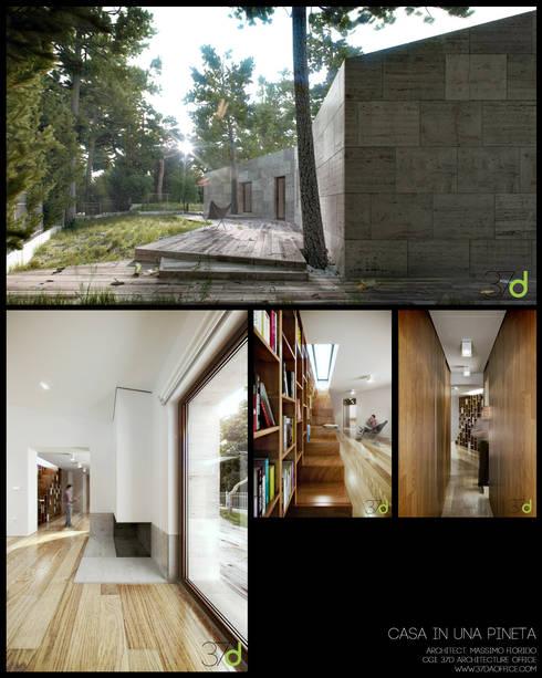 Casa en una Pineta: Casas de estilo  de 37d Architecture Office