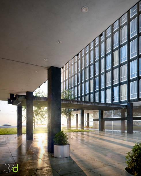 Edificios de oficinas de estilo  por 37d Architecture Office