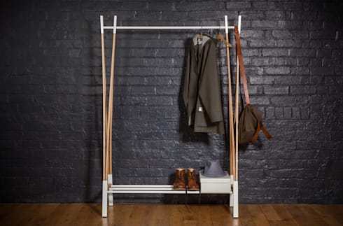 Kaori Clothes Rail:  Bedroom by Raskl. Design Studio & Workshop