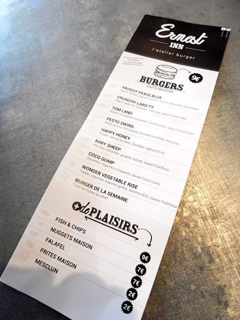 restaurant burgers ernest 39 inn par allegre bonandrini. Black Bedroom Furniture Sets. Home Design Ideas