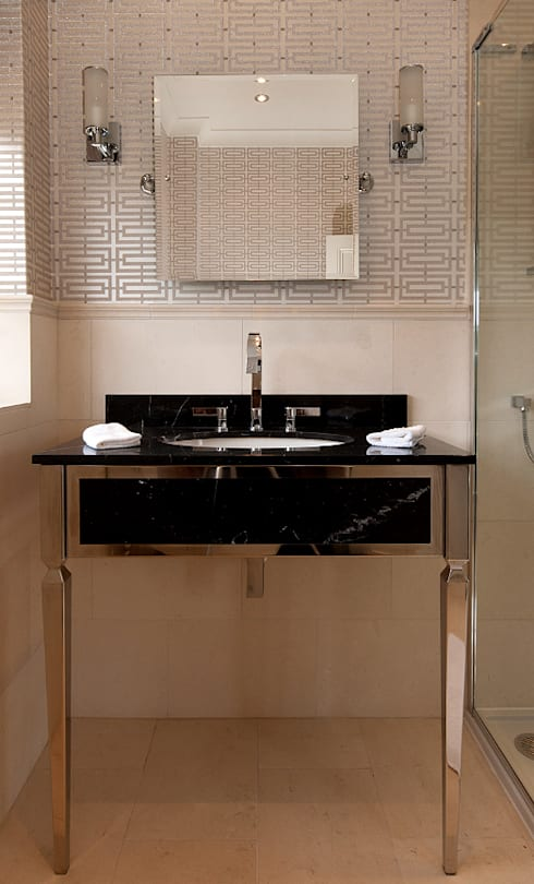 Bespoke Luxury Bathroom: country Bathroom by Elizabeth Bee Interior Design