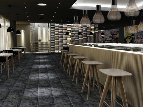 New Restaurant-Bar concept: Negozi & Locali commerciali in stile  di lca-office