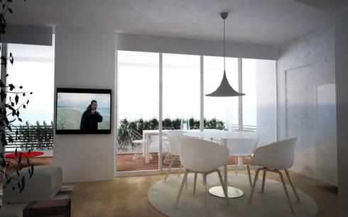 Appartamento a Marina di Pietrasanta: Sala da pranzo in stile in stile Scandinavo di Emmepi Design