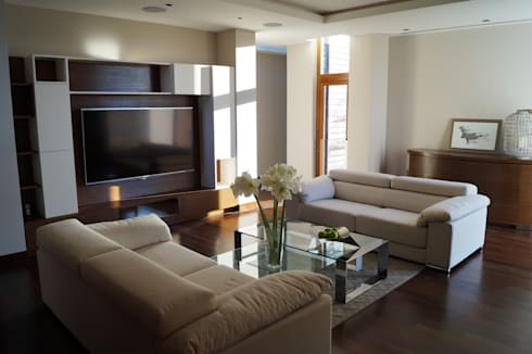Casa Misión: Salas de estilo moderno por Metrik Studio