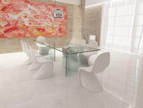 Yable 3: Sala da pranzo in stile in stile Moderno di lca-office