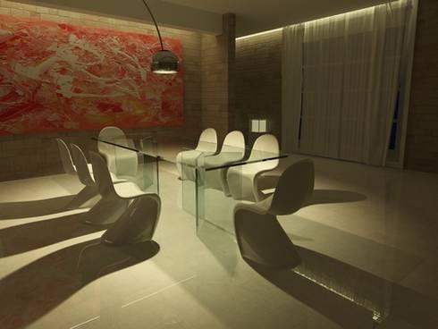 Yable: Sala da pranzo in stile in stile Moderno di lca-office