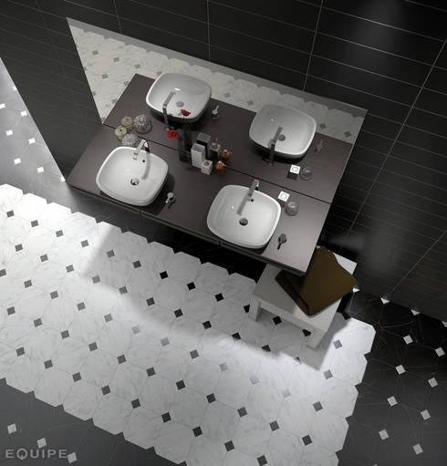 Baños de estilo  por Equipe Ceramicas