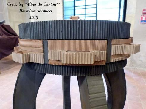 console carton recycl m tal par mine de carton homify. Black Bedroom Furniture Sets. Home Design Ideas