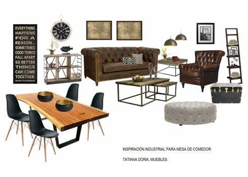 Mesa de comedor estilo industrial de Tatiana Doria, Diseño de ...