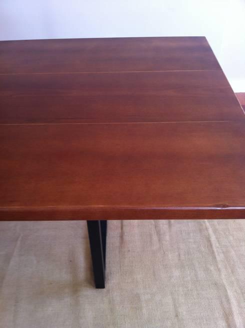 Mesa de comedor estilo industrial por Tatiana Doria, Diseño de ...