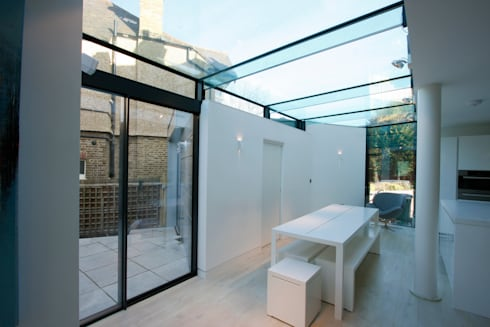 Dovercourt Road Extension : modern Dining room by IQ Glass UK