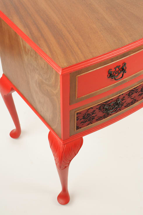 Upcycled vintage side cabinet : eclectic Living room by Narcissus Road Furniture Design