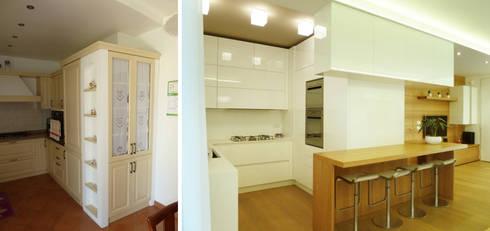 Angolo cottura: Soggiorno in stile in stile Moderno di Studio Massimo Rinaldo architetto
