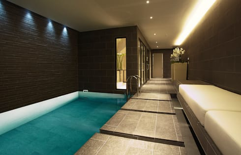Subterranean Leisure Area : modern Pool by London Swimming Pool Company