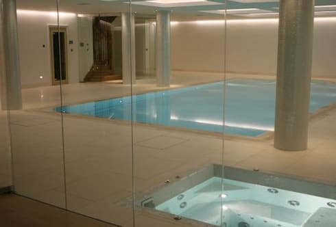 ​Underground Wellness Area : modern Pool by London Swimming Pool Company