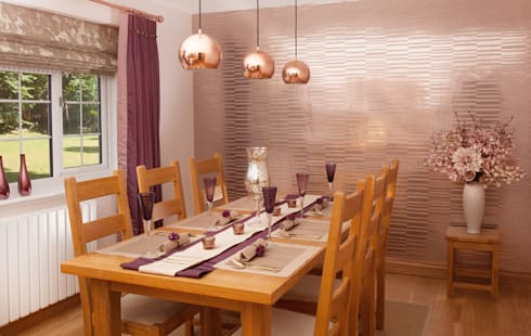 Feature Wall : modern Dining room by Whitehouse Interiors