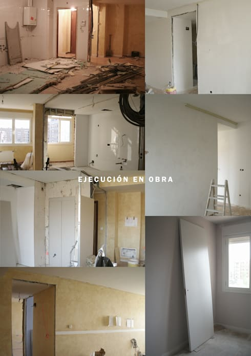 Piso de 67m2: Casas de estilo moderno de Interior03