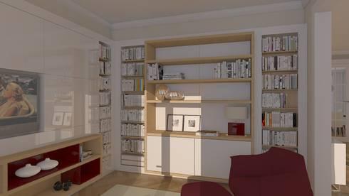 Entwurf und Visualisierung Wohnung in Düsseldorf:   von Topali Innenarchitektur