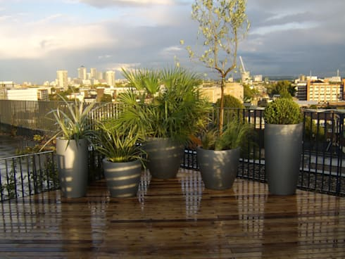 Bermondsey, London:  Terrace by Urban Roof Gardens