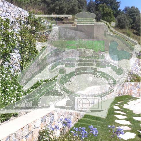 Ritrovamenti: Giardino in stile in stile Mediterraneo di Studio S.O.A.P.