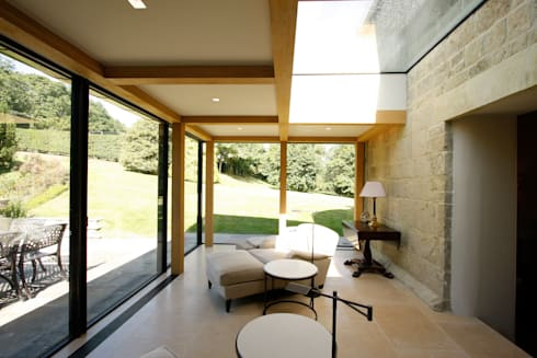 Ansty Manor: eclectic Living room by IQ Glass UK