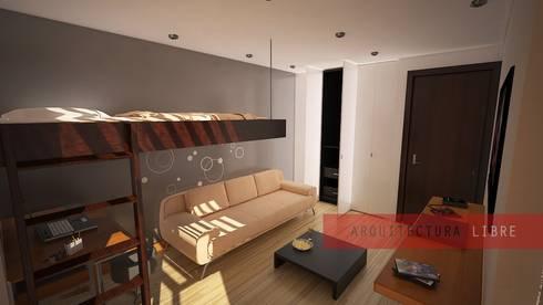 Remodelaciones: Recámaras de estilo moderno por Arquitectura Libre