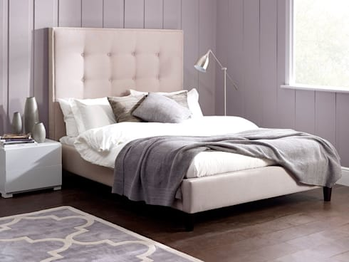 Ivy Tall Bed: modern Bedroom by Living It Up