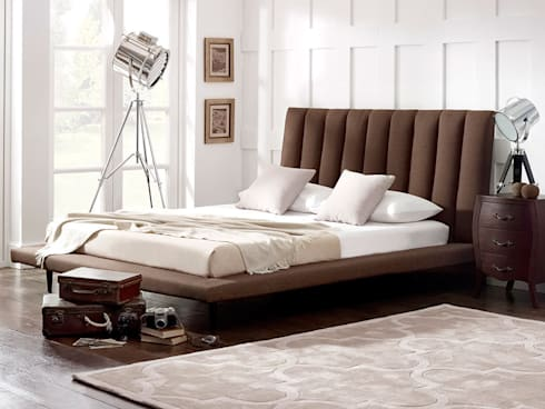 Leighton Bed: modern Bedroom by Living It Up