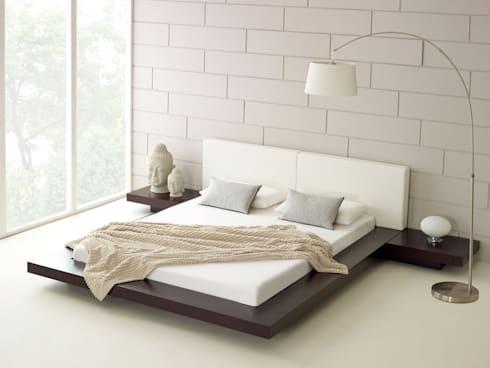 Harmonia Walnut Bed: modern Bedroom by Living It Up