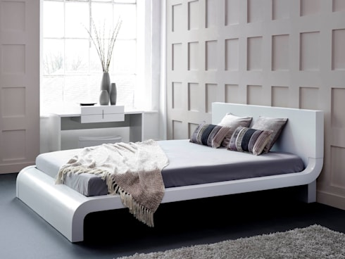 Roma White Bed: modern Bedroom by Living It Up