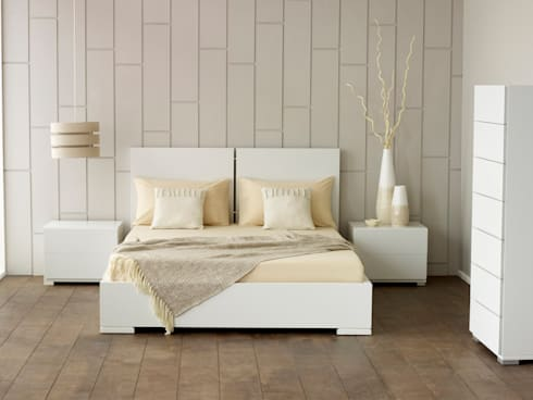 Verona White Bed: modern Bedroom by Living It Up