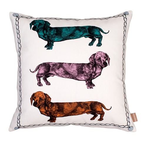 Lisa Bliss Dachshund Cushion: eclectic Living room by Anthea's Home Store