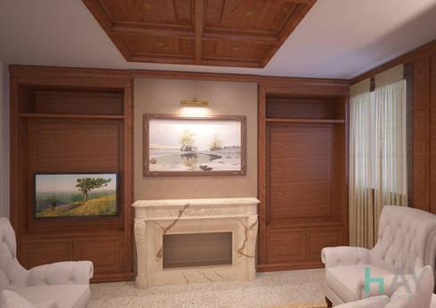 Private sitting room, Vicenza (ITA): Soggiorno in stile in stile Classico di HAY interiors