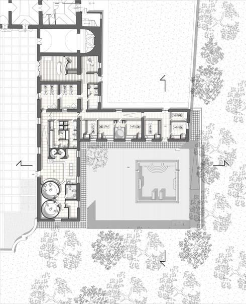 Il Centro Benessere di Villa Bonocore Maletto - San Lorenzo ai colli : Spa in stile in stile Moderno di Studio di Architettura e Design