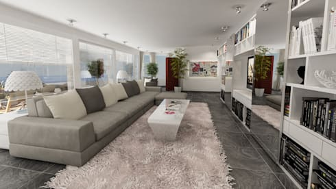 divano : Soggiorno in stile in stile Moderno di studiosagitair