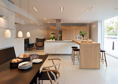 bulthaup b3 kitchen and C3 table & bench:   by hobsons choice
