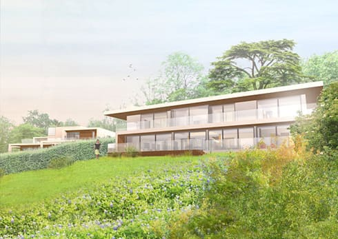 Mill Road, South Holmwood, Mole Valley, Surrey: modern Houses by 4D Studio Architects and Interior Designers