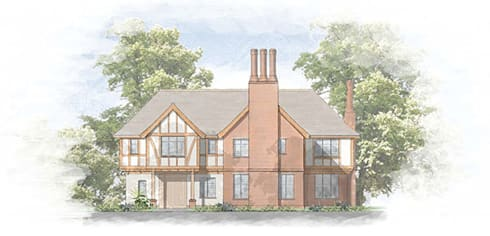 Traditional House Designs for Hampshire sites: classic Houses by 4D Studio Architects and Interior Designers