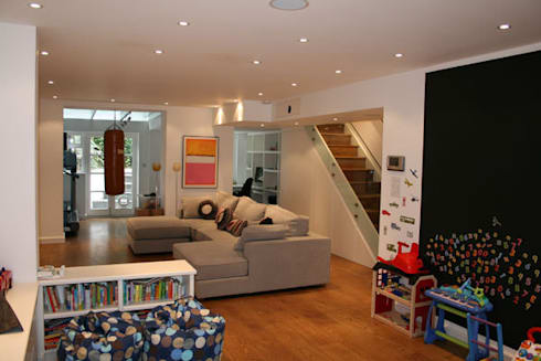 Notting Hill Apartment: eclectic Living room by 4D Studio Architects and Interior Designers