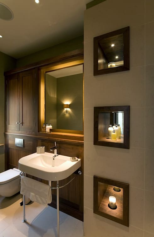 The Master Bathroom:  Bathroom by Brilliant Lighting