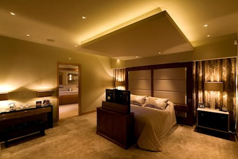The Master Bedroom: modern Bedroom by Brilliant Lighting