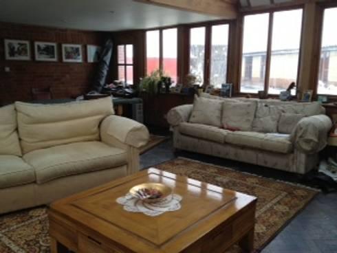 New Forest House: modern Living room by Amorphous Design Ltd