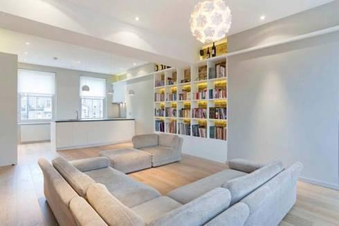 Kilkie Street: modern Living room by Amorphous Design Ltd