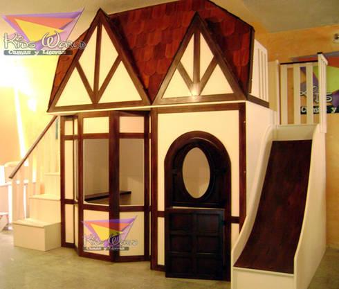 Casita estilo Blanca nieves: Habitaciones infantiles de estilo  por camas y literas infantiles kids world