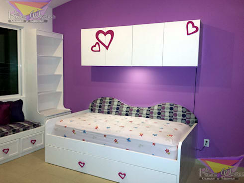 romántica y practica cama estilo sillon: Recámaras de estilo minimalista por camas y literas infantiles kids world