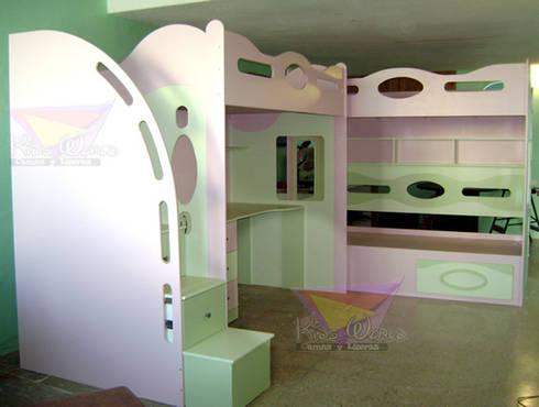 litera en dos modulos: Recámaras de estilo moderno por camas y literas infantiles kids world