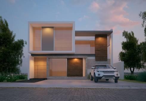 SIMPLICIDAD Y DISTINCION: Casas de estilo moderno por SYD CONSTRUCTORES