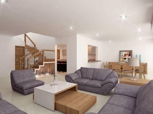 MODERNIDAD Y CALIDEZ SE PUEDEN UNIR: Casas de estilo moderno por SYD CONSTRUCTORES