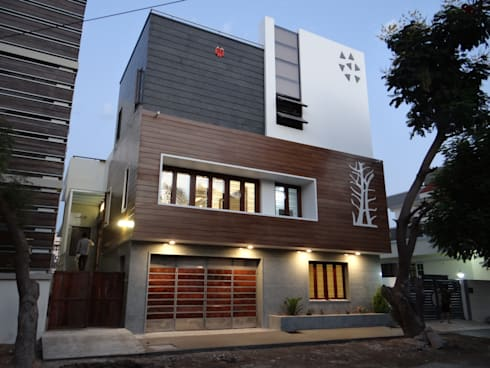 Residence of Mr.Subhash: modern Houses by Hasta architects