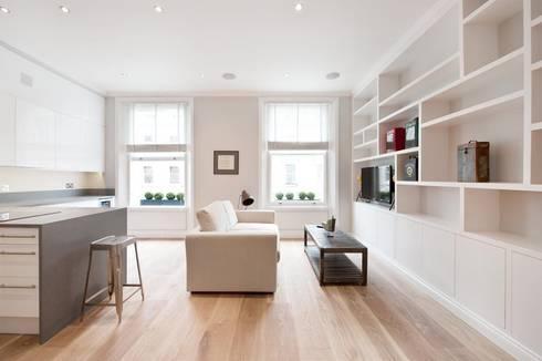 Clanricarde Gardens: modern Living room by Ardesia Design